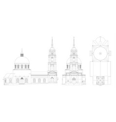 the temple of the russian orthodox church a vector image