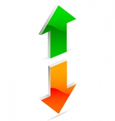 Up and down arrow vector