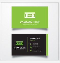 Video tape icon business card template vector