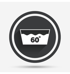 Wash icon Machine washable at 60 degrees symbol vector