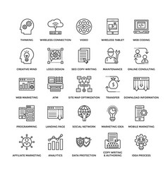 Web design icons 3 vector