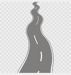 winding curved road vector image