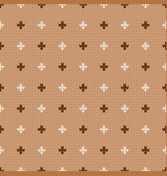 Winter knitted seamless pattern with dots vector