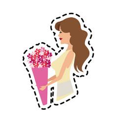 Woman icon image vector