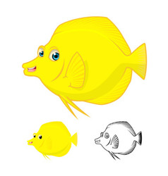 Yellow Tang Fish vector image