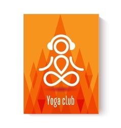 Yoga design concept vector image