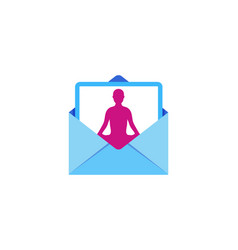 Yoga mail logo icon design vector