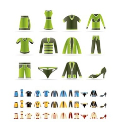 clothing icons - icon se vector image vector image
