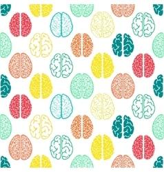 Colorful seamless brain pattern Scientific vector image