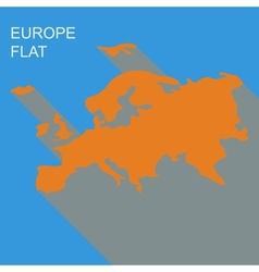 europe map Flat style vector image