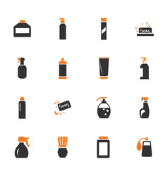 household chemicals icons set vector image vector image