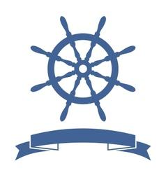 Ship Wheel Banner vector image