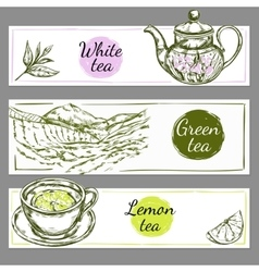 Tea Time Banner Set vector image vector image