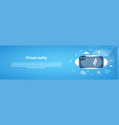 virtual reality concept 3d glasses horizontal web vector image