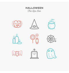 9-line-color-icons vector image vector image