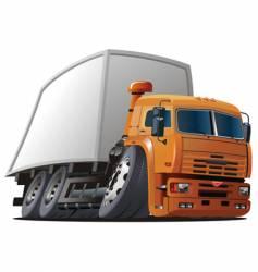 cartoon cargo truck vector image vector image