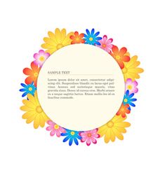 Floral banner circle vector image vector image