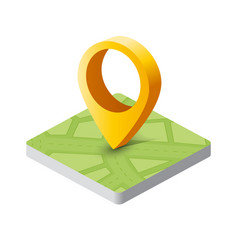 isometric pin icon vector image