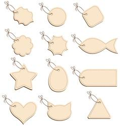 labels beige vector image
