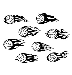 Set of volleyball sports tattoos vector image vector image