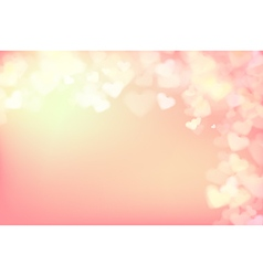 004 Blur heart on light pink abstract background vector image vector image