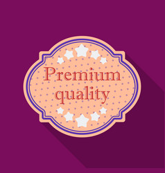 premium quality icon in flat style isolated on vector image vector image