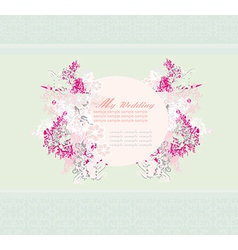 wedding abstract floral frame invitation card vector image vector image