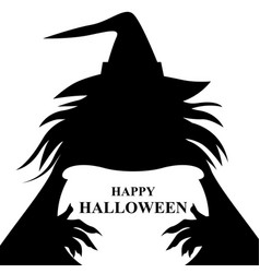 Witch with pot vector