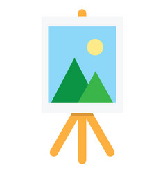 wooden easel with blank space vector image vector image
