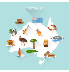 Australia tourist map vector image vector image