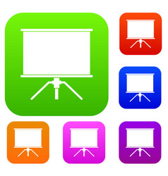 Blank projection screen set color collection vector