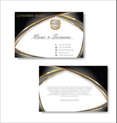 elegant business card design template 03 vector image vector image