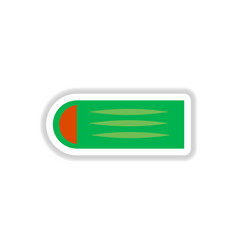 Street food flat style sticker vector