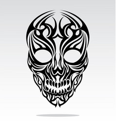 Tribal Skulls Tattoo Design vector image vector image