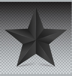 volumetric five-pointed star icon of classic vector image vector image