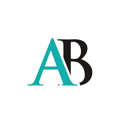 Ab initials letter logo vector