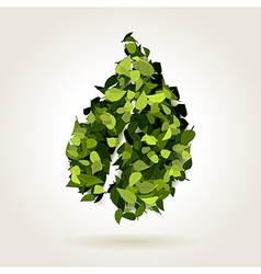 Abstract green leaf vector image