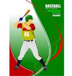 al 0825 baseball 02 vector image