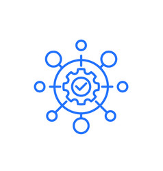 Automation industry line icon on white vector