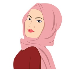 Beautiful Islamic Woman In Hijab Sharia vector