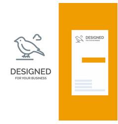 Bird british small sparrow grey logo design and vector