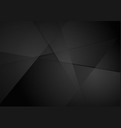 black polygonal abstract tech background vector image