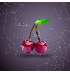 Bright cherry polygon vector image