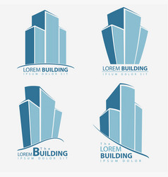 Building symbol set architecture business vector