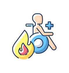 Burn center rgb color icon vector