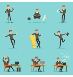 Businessman Work Process Series Of Business vector