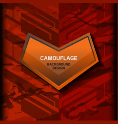 Camouflage dark orange background vector