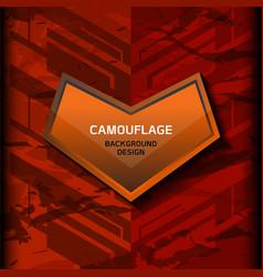 camouflage dark orange background vector image