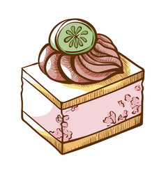 canapes icon small event food for catering vector image