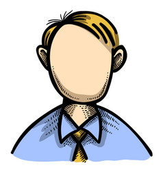 Cartoon image of user icon user symbol vector